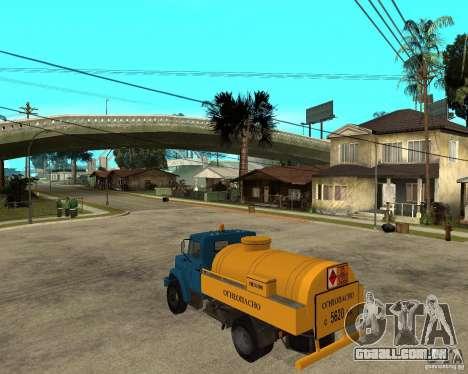ZIL-433362 Extra Pack 2 para GTA San Andreas vista traseira