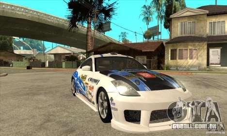 Nissan 350z Stock - Tunable para GTA San Andreas vista superior