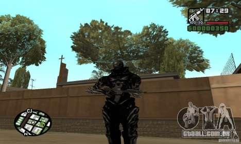 Alex Mercer v2 para GTA San Andreas por diante tela