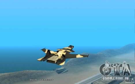 Águia dourada de Su-32 para GTA San Andreas vista traseira