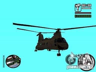 CH-46 SeaKnight para GTA San Andreas traseira esquerda vista