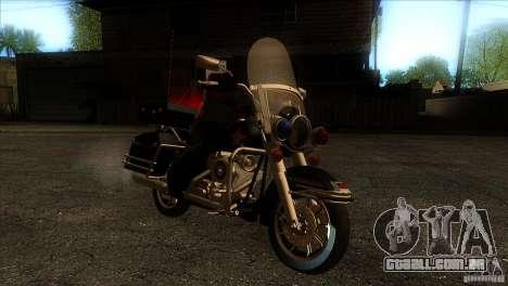 Harley Davidson para GTA San Andreas vista traseira