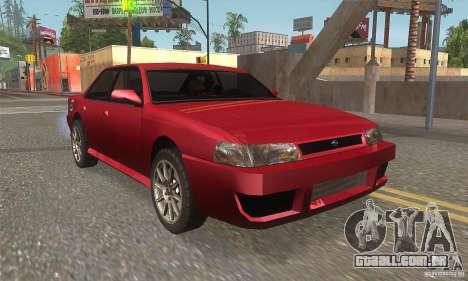 New Sultan HD para GTA San Andreas vista traseira