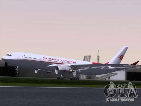 Airbus A330-203 Air Algerie para GTA San Andreas vista traseira