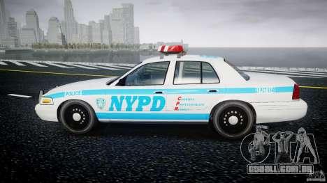 Ford Crown Victoria 2003 v.2 Police para GTA 4 esquerda vista