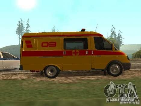 GÁS ressuscitação 32217 para GTA San Andreas esquerda vista
