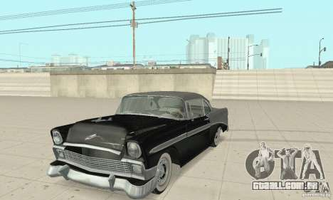 Chevrolet Bel Air 1956 para vista lateral GTA San Andreas