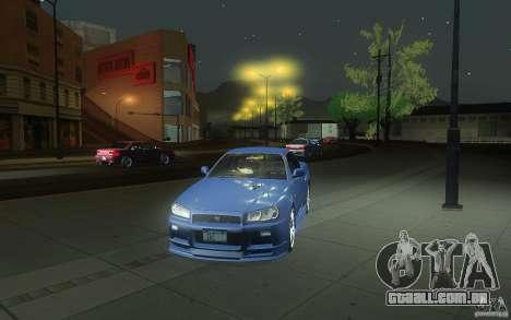 Nissan Skyline GT-R R34 M-spec Nur para GTA San Andreas vista superior