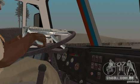 Secretariado KAMAZ-54112 para GTA San Andreas vista traseira