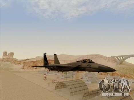 F-15C para GTA San Andreas vista traseira