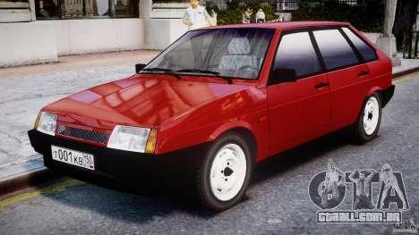 Vaz-21093i para GTA 4 esquerda vista