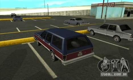 New Regina para GTA San Andreas esquerda vista