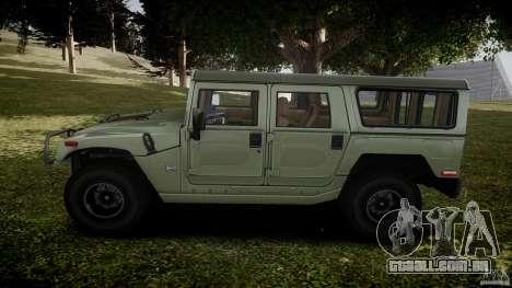 Hummer H1 Original para GTA 4 esquerda vista