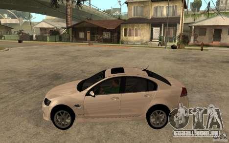 Chevrolet Lumina 2010 para GTA San Andreas esquerda vista
