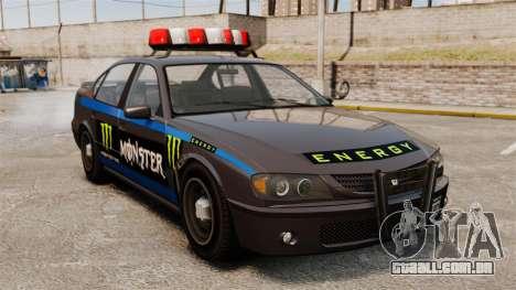 Polícia Monster Energy para GTA 4 esquerda vista