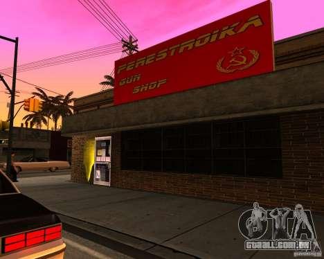 Armazena a reestruturação para GTA San Andreas por diante tela