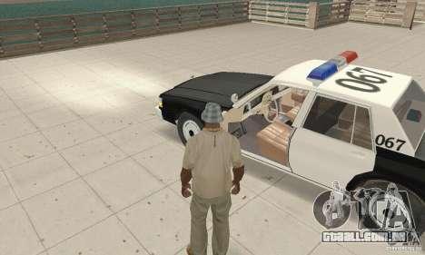 Chevrolet Caprice Interceptor 1986 Police para GTA San Andreas vista traseira