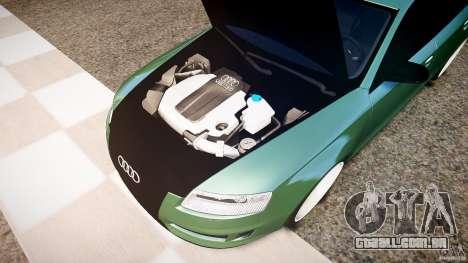 Audi RS6 2009 para GTA 4 vista de volta
