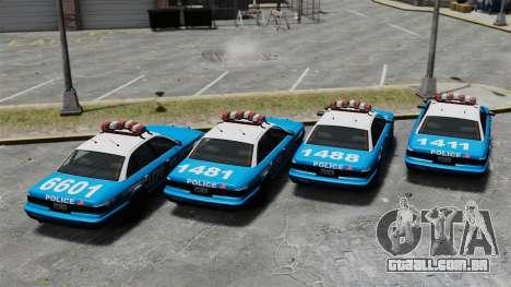 Vapid Police Cruiser ELS para GTA 4 vista de volta