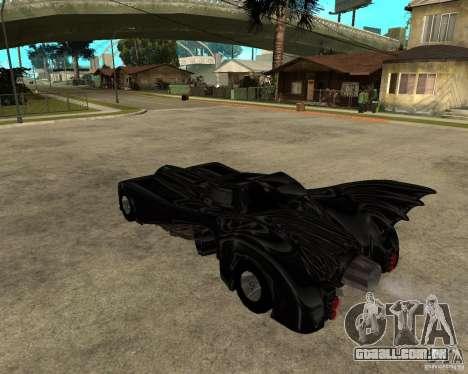 Batmobile para GTA San Andreas esquerda vista