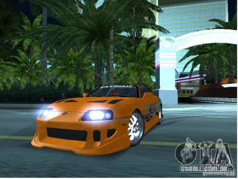 Toyota Supra para GTA San Andreas vista traseira