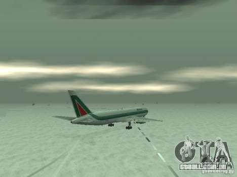 Boeing 767-300 Alitalia para GTA San Andreas vista traseira