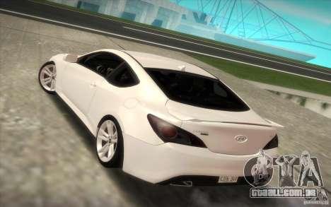 Hyundai Genesis 3.8 Coupe para GTA San Andreas esquerda vista