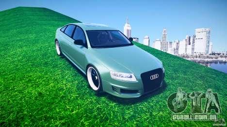 Audi RS6 2009 para GTA 4 vista lateral