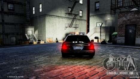 Ford Crown Victoria CVPI-K9 V6.9A-LAPD-ELS para GTA 4 vista de volta