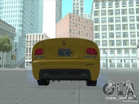 Dodge Viper SRT-10 (dourado Viper) para GTA San Andreas esquerda vista