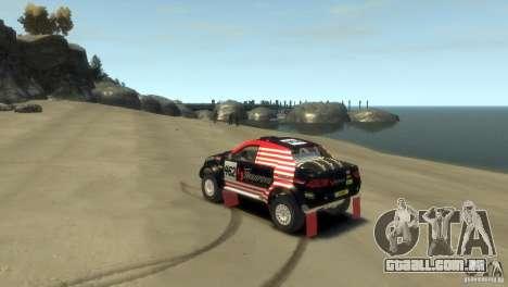 Mitsubishi L200 Rally para GTA 4 esquerda vista