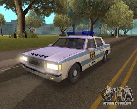 Updated LVPD para GTA San Andreas traseira esquerda vista