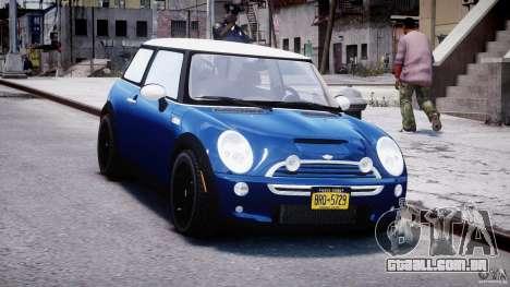 Mini Cooper S 2003 v1.2 para GTA 4 vista de volta