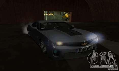 Chevrolet Camaro ZL1 2012 para GTA San Andreas vista interior
