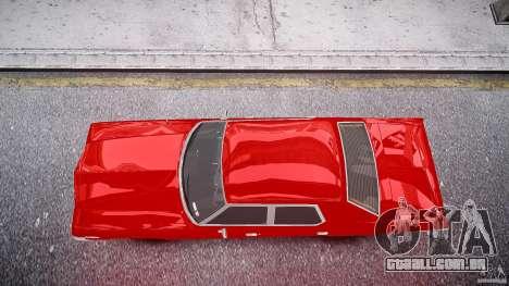 Dodge Monaco 1974 stok rims para GTA 4 vista direita