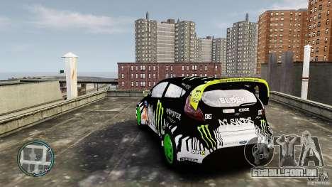 Ken Block Ford Fiesta 2011 para GTA 4 traseira esquerda vista