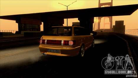 Audi RS2 Avant 1995 para vista lateral GTA San Andreas