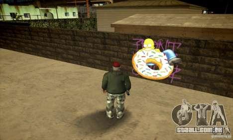 Simpson Graffiti Pack v2 para GTA San Andreas quinto tela
