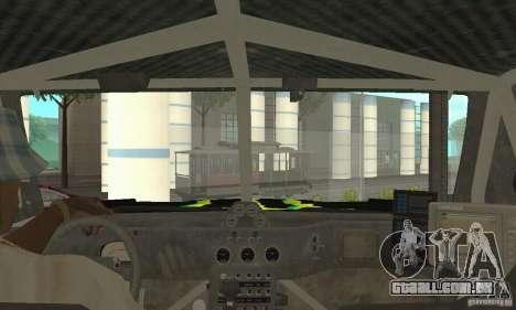 Hummer H3 Baja Rally Truck para GTA San Andreas vista traseira