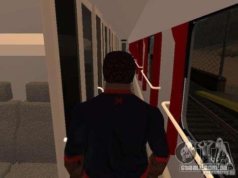 Nevsky express para GTA San Andreas vista traseira