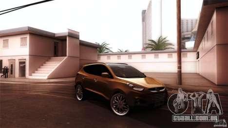 Hyundai iX35 Edit RC3D para GTA San Andreas traseira esquerda vista