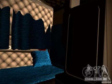 KenWorth T2000 v 2.8 para GTA San Andreas vista interior