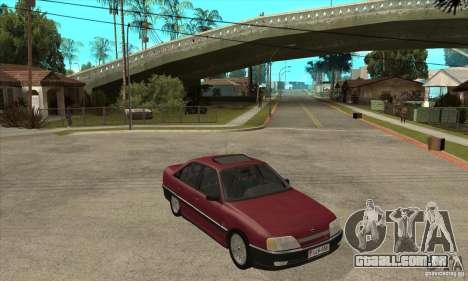 Opel Omega A para GTA San Andreas vista traseira