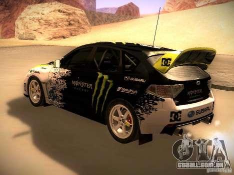 Subaru Impreza Gymkhana para GTA San Andreas vista direita