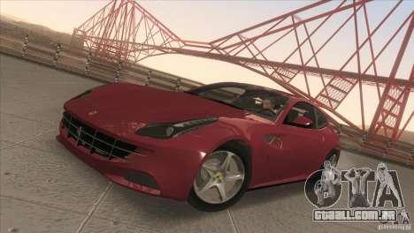 Ferrari FF 2011 V1.0 para GTA San Andreas vista interior