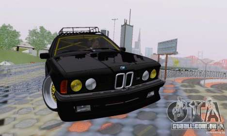 BMW M635CSi Stanced para GTA San Andreas vista inferior