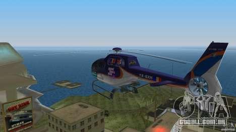 Eurocopter Ec-120 Colibri para GTA Vice City vista traseira