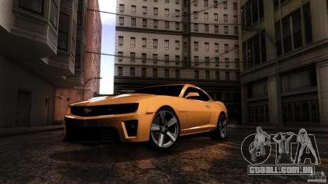 Chevrolet Camaro ZL1 2011 v1.0 para GTA San Andreas vista direita