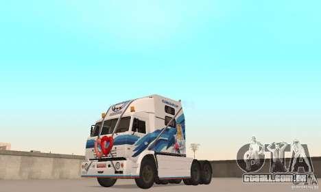 Secretariado KAMAZ-54112 para GTA San Andreas esquerda vista