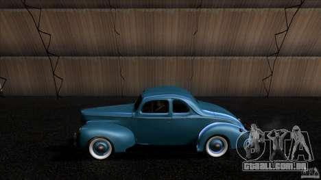 Ford Deluxe Coupe 1940 para GTA San Andreas esquerda vista